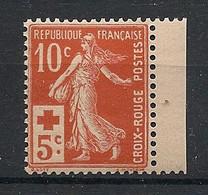 France - 1914 - N°Yv. 147 - Semeuse Croix Rouge - Bord De Feuille - Neuf Luxe ** / MNH / Postfrisch - Ungebraucht