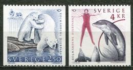Schweden Sweden Sverige Mi# 1666-7 Postfrisch/MNH - Fauna, Zoo - Nuovi