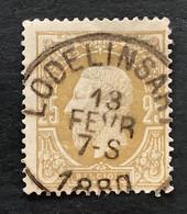 Leopold II OBP 32 - 25c Gestempeld  EC LODELINSART - 1869-1883 Leopold II.