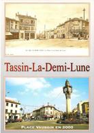 69 - Tassin La Demi Lune - La Place En 1900 - L'Horloge Inaugurée Le 5 Avril 1908 - Multivues - Autres Communes