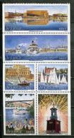 Schweden Sweden Sverige Mi# 2050-5 Postfrisch/MNH - Ships, Lighthouse, Buildings - Ungebraucht
