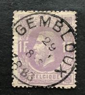 Leopold II OBP 36 - 1fr Gestempeld  EC GEMBLOUX - 1869-1883 Leopold II.