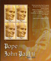 MUSTIQUE GRENADINES OF ST. VINCENT - BLOCK SHEET - POPE JOHN PAUL II MINT NOT HINGED SOUVENIR 2.25 - Papes