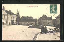 CPA Courson-les-Carriéres, La Place - Zonder Classificatie