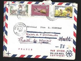 Madagascar  Lettre Du 31 01 1967 De   Diègo Suarez   Pour Thailé Les Maris En Vendée - Madagascar (1960-...)