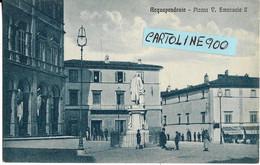 Lazio-viterbo-acquapendente  Piazza Vittorio Emanuele II Bella Animata Veduta Piazza Anni 20 30 (formato/piccolo) - Otras Ciudades