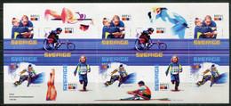 Schweden Sweden Sverige Mi# 2334-7 Foil Stamp Booklet  Postfrisch/MNH - Children And Youth Sport - Ungebraucht