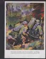 C30 / Drittes Reich / Wehrmacht Flammenwerfer , Padua HDK Kunstausstellung München 1941 - Guerra 1939-45