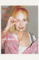 Vivienne Westwood British Fashion Designer Magazine Postcard - Mode