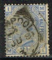 GB93 - GRANDE BRETAGNE N° 62 Obl. Reine Victoria - Used Stamps