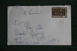 ESPAGNE  : Timbre Sur Lettre De MATARO ( BARCELONA )vers NARBONNE ( FRANCE ) . - 1971-80 Storia Postale