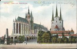 "20 079 Ak Erfurt Bahnpost ""BERLIN-ERFURT"" 1911 - Covers & Documents"