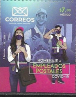 MEXICO, 2020, MNH,HEROES, COVID-19, HONOURING  POSTAL WORKERS,1v - Sonstige