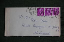 ESPAGNE  : Timbres Sur Lettre De TREMP Vers NARBONNE ( FRANCE ) . - 1971-80 Storia Postale