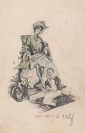 Shoe Repair Shine PolishMonkey Looks Up Ladies Skirt 1905 Postcard - Ohne Zuordnung