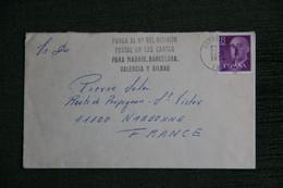 ESPAGNE  : Timbre Sur Lettre De BARCELONA Vers NARBONNE ( FRANCE ) . - 1971-80 Storia Postale
