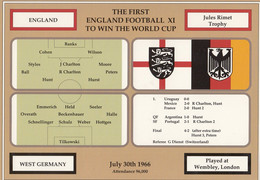 First England Football World Cup Victory 1966 Vs West Germany Postcard - Calcio