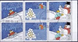 ZWEDEN 2008 Kerstzegels Internationaal HBL GB-USED - Oblitérés