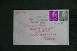 ESPAGNE  : Timbres Sur Lettre De BARCELONA Vers NARBONNE ( FRANCE ) . - 1971-80 Storia Postale