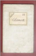 CARTE TOPOGRAPHIQUE ENTOILEE 1863 CLERMONT FERRAND MONTLUCON MOULINS ALLANCHE TULLE JUMILLAC POITIERS GUERET LIMOGES - Carte Topografiche