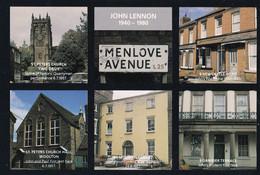 John Lennon The Beatles Menlove Avenue Student Flat Postcard - Musik Und Musikanten
