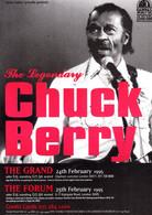Chuck Berry Concert Live In 1995 Rare Advertising Postcard - Musik Und Musikanten