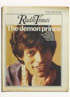 Radio Times The Rolling Stones Mick Jagger Rare BBC Postcard - TV-Serien