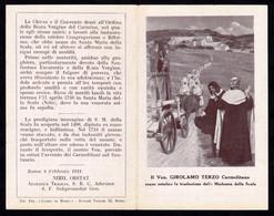 Ven. GIROLAMO TERZO Carmelitano -  E - A - Mm. 77 X 122 - Religione & Esoterismo