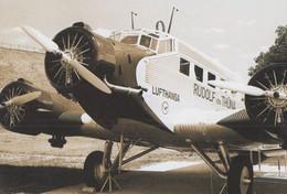 Junkers JU52 Lufthansa At Besucherpark In 1937 Rudolf Flaghaven Munchen Postcard - Non Classificati