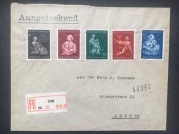 NETHERLANDS Registered Urk FDC 1944 Child Welfare Sent To Arnhem - Lettres & Documents