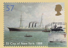 SS City Of New York Ocean Liner Ship Limited Edition Frank Postcard - Non Classificati
