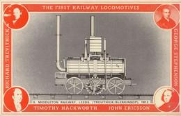 Timothy Hackworth John Ericcson Middleton Railway Leeds Train Postcard - Trains