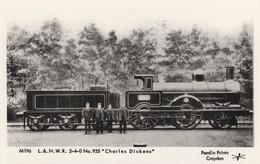 L&NWR 2-4-0 No 955 Charles Dickens Train Railway Postcard - Treni