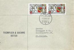 """Motiv Brief  """"Trümpler, Uster"""" - St.Gallen           1941 - Storia Postale"""