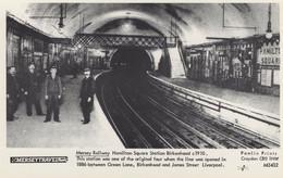 Mersey Railway Hamilton Square Train Station Birkenhead Postcard - Eisenbahnen