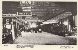 Mugby Railway Station Of Charles Dickens Junction In 1904 RPC Postcard - Treni