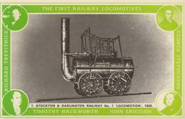 Timothy Hackworth George Stephenson Royal Train Postcard - Trains