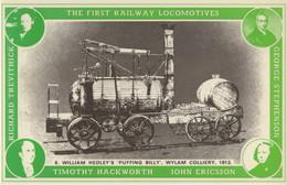 William Hedley Puffing Billy Wylan Colliery John Ericsson Train Postcard - Trains