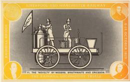 Braithwaite & Ericsson Novelty Train Birthday Manchester Postcard - Trains