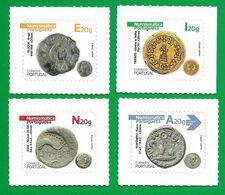 Portugal   2020 , Antike Münzen - Numismatica Portuguesa 1° - Selbstklebend / Self-adhesive - Postfrisch / MNH / (**) - Unused Stamps