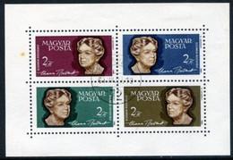 HUNGARY 1964 Eleanor Roosevelt  Block Used.  Michel Block 41 - Used Stamps