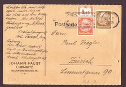 Deutsches Reich Brief Hindenburg - Frankatur Mit Werbestempel 1924 - Briefe U. Dokumente