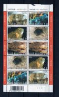 BELGIQUE BELGIE  3174/78  MINERAUX    XX MNH Feuille Complete Planche 4 - Volledige Vellen