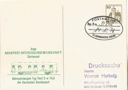"""20 086 Schmuck-Postkarte Bahnpost """"POSTAMT (V) OBERHAUSEN"""" 1978 - Covers & Documents"""