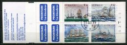 Schweden Sweden Sverige Mi# MH 251 Stamp Booklet Gestempelt/used - Ships - Oblitérés