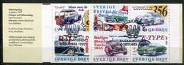 Schweden Sweden Sverige Mi# MH 232 Stamp Booklet Gestempelt/used - Cars - Oblitérés