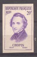 Série Personnages Célèbres étrangers Chopin YT 1086 De 1956  Trace Charnière - No Dentado