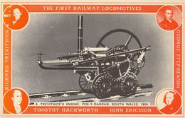 Timothy Hackworth John Ericcson 1800s First Welsh Railway Train Postcard - Trains