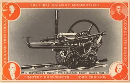 Trevithick's Engine Pen-Y-Darren South Wales Train Postcard - Trains