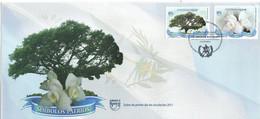 GUATEMALA 2011 SET FDC UPAEP Símbolos Nacionales árbol Flora SIMBOLOS PATRIOS - Sonstige
